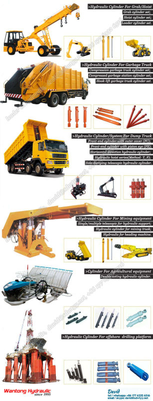 Trailer Truck Hydraulic Cylinder with TS16949
