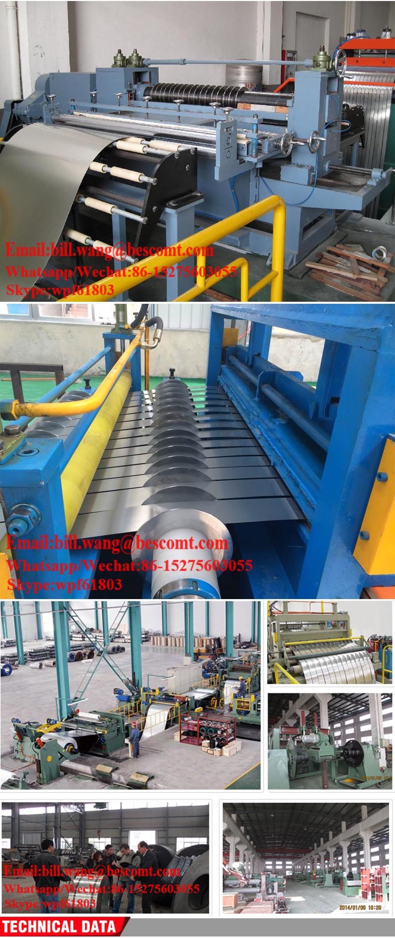 Slitting Lines Cut to Length Machine Lines for Iron Steel