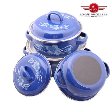 3PCS Enamel Casserole Pot Set (671EDB)