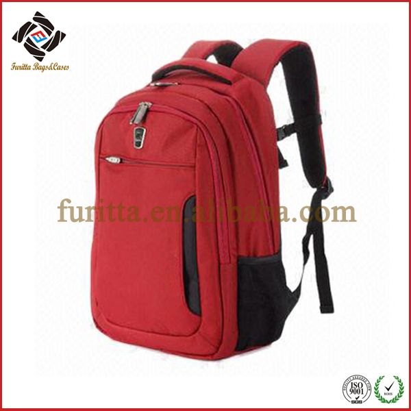 High-Grade Red Nylon Business Bag School Backpack Laptop Bag (FRT4-07)