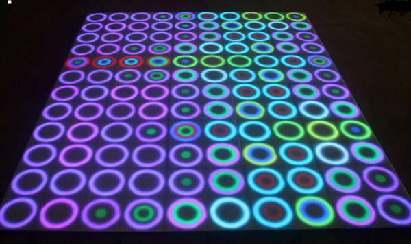 Colorful Time Tunnel LED Dance Floor 3D