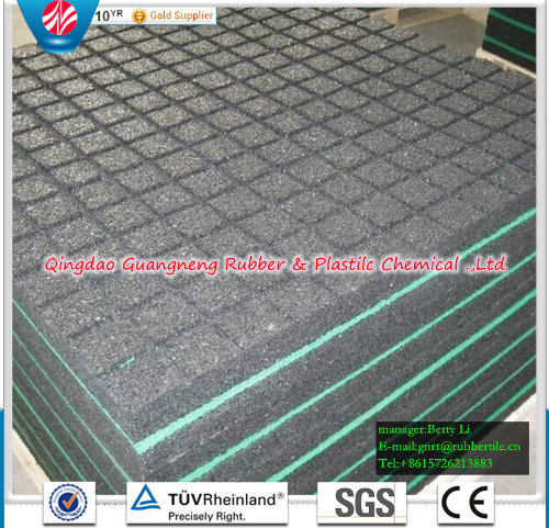 Square Rubber Tile 500mm Rubber Tile Colorful Rubber Paver Playground Rubber Flooring
