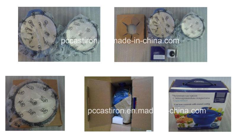 4PCS Cast Iron Cake Mold with Handle Preseaseoned Coating