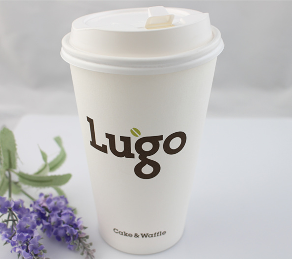 Disposable 12oz Coffee Paper Cup with Lid