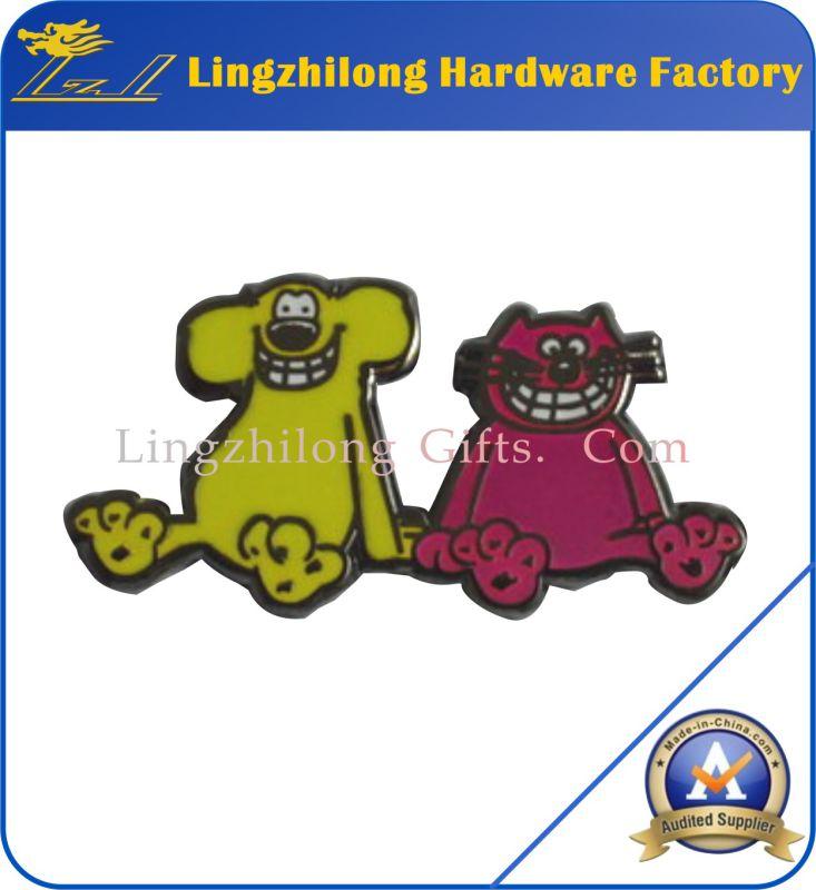 Enamel Cute Metal Animal Laplel Pin