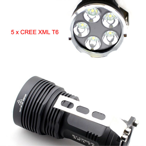 Lumifire 3100 Super Power 5PCS Xml-T6 LED 5000 Lumen Flashlight LED