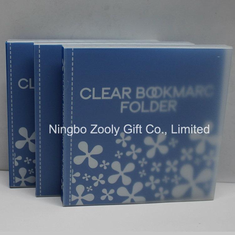 Custom Printing Clear Plastic PP PVC Bookmark Holder / Album Book