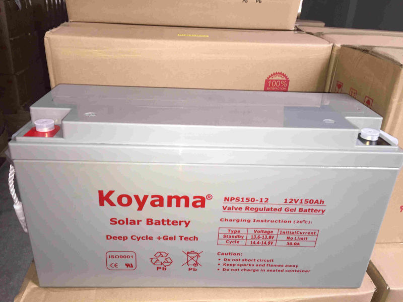 12V 150ah Deep Cycle Gel Solar Battery for Solar System