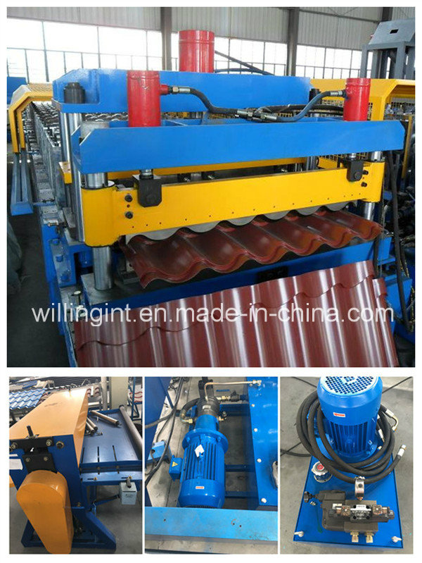 Corrugated Glazed Roof Tile Wall Panel Roll Forming Machine