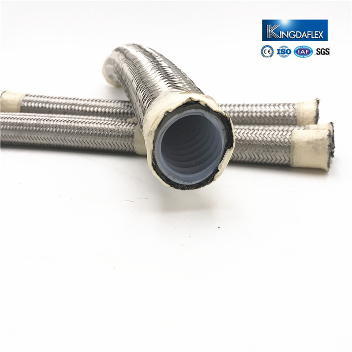 Convoluted PTFE Tubing Ss Braided Teflon Flexible Metal Hose
