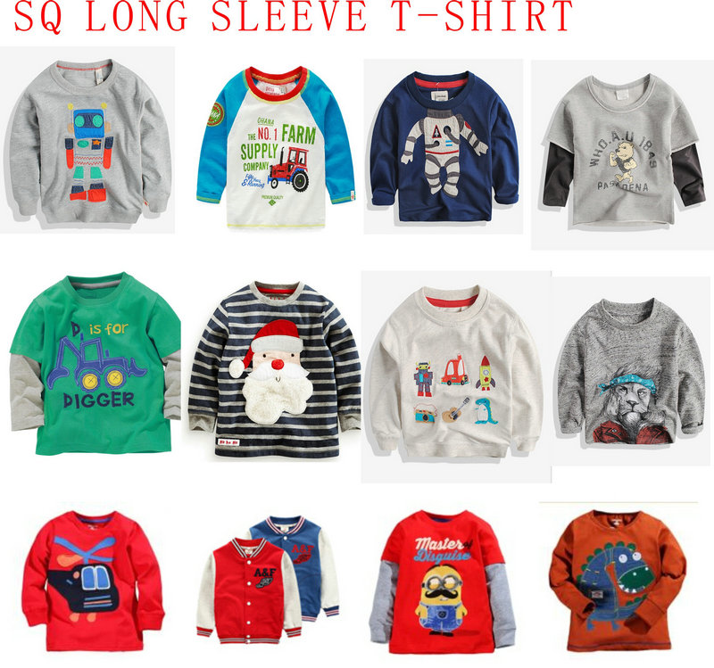 Fashion Strip Printing Long Sleeve T-Shirt in Children Clothing