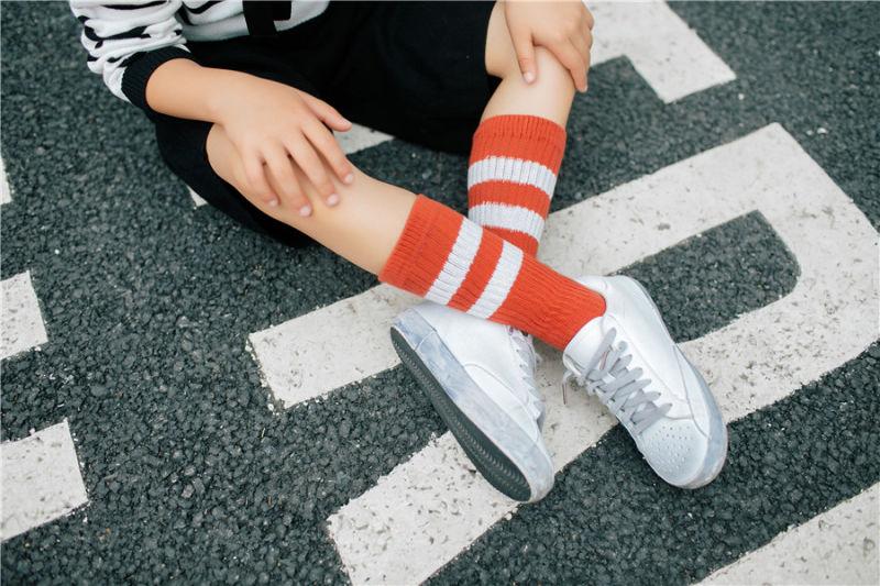 Classic Stripes Designs Girl Cotton Stocking Girl School Dress Stocking