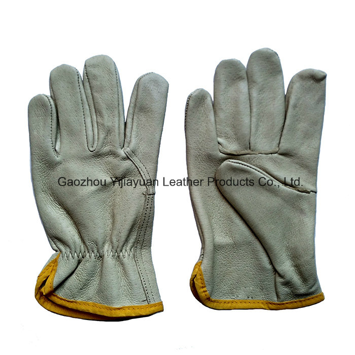 Pig Grain Leather Working Safety Drivers Gloves for Driving
