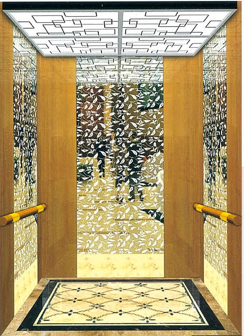 Passenger Elevator Lift Mirror Etched Mr & Mrl Aksen Ty-K176
