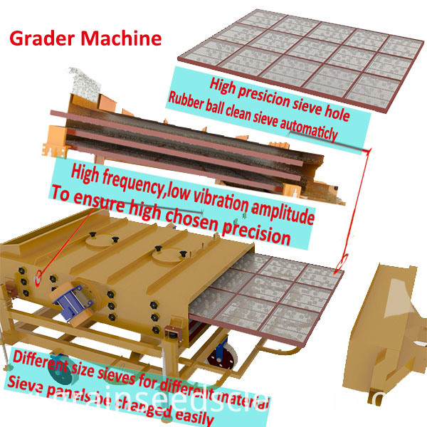 grain seed cleaning process line