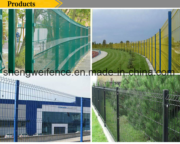 PVC Coated Triangle Bending Welded Wire Mesh Fence