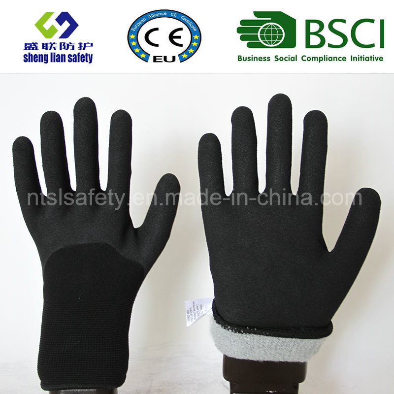 Nitrile Coating, Sandy Finish Safety Work Gloves (SL-NS115)