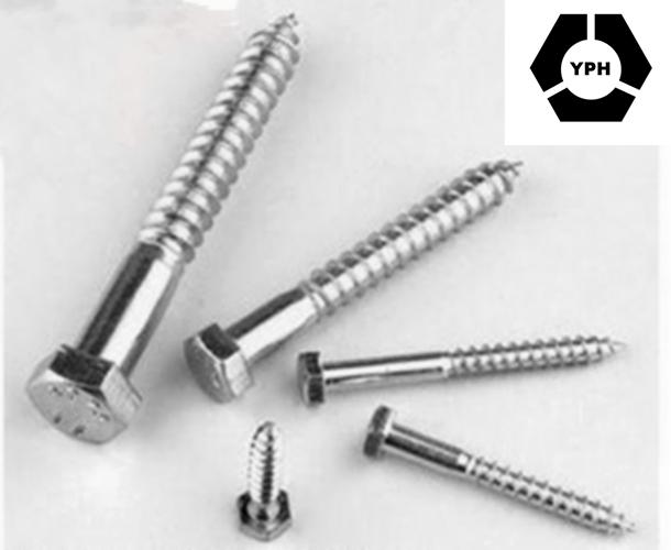 High Quality Cheap Zinc Hex Head DIN571 Wood Screw