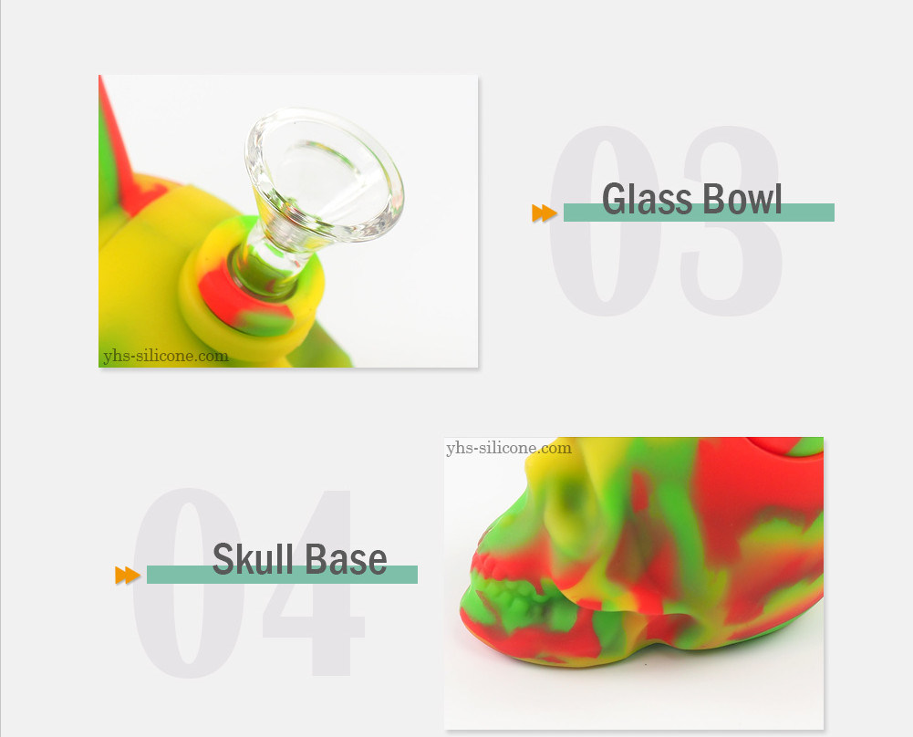 Hot Sale Colorful DAB Rig Recycler Beaker Base Silicone Smoking Water Pipes with Downstem