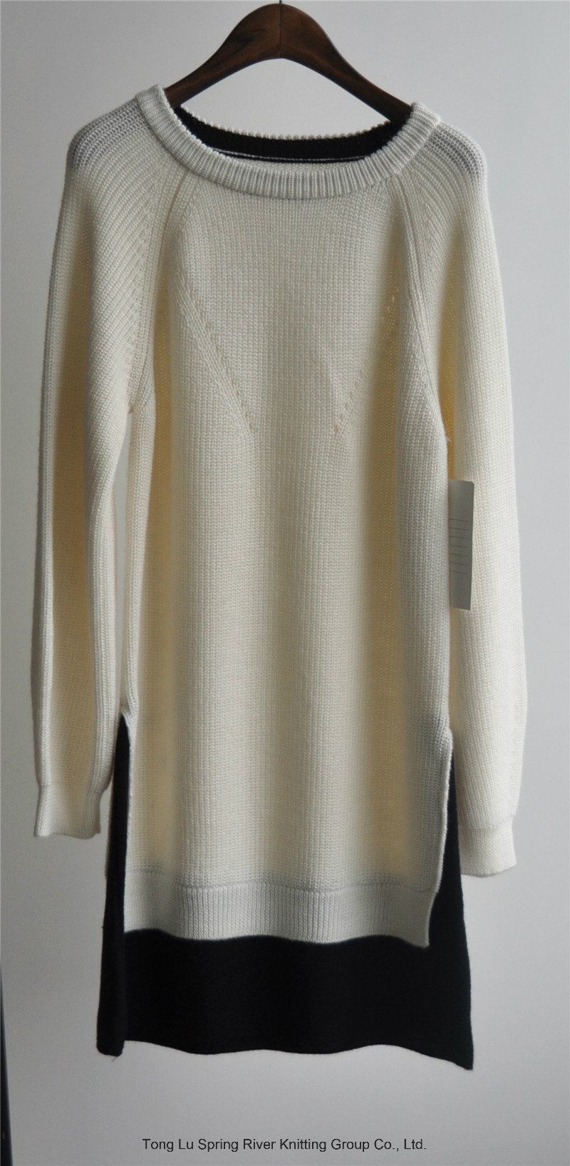 Winter Ladies Patterned Longline Pullover Sweater