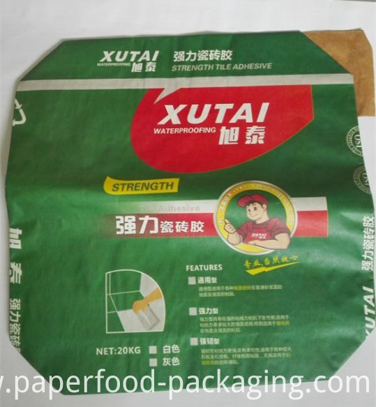 Eco Friendly Brown Kraft Paper Bag for Cement Packaging
