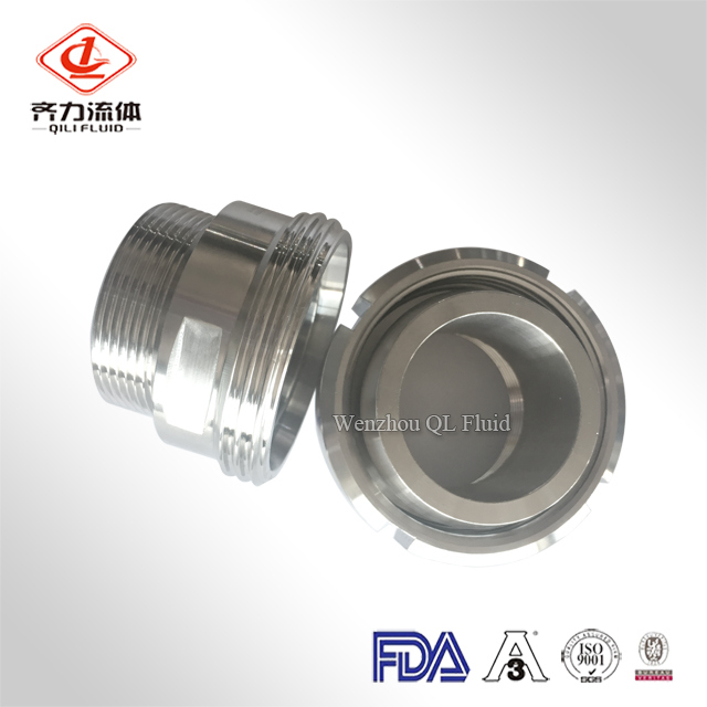 Double Ferrule Male Stainless Steel Hydraulic Pressure Sanitary Pipe Fitting