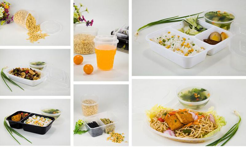 Eco-Friendly Microwaveable Plastic Food Container with Lid