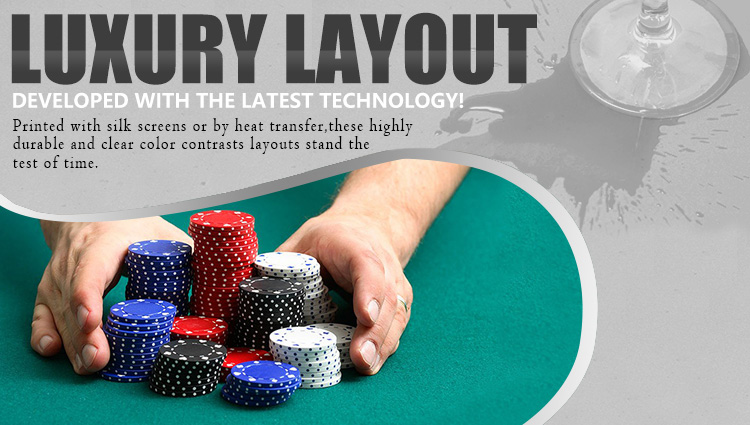 Baccarat Table Layout 15 P Oval (YMBL18G)