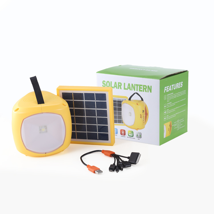 ISO Factory Solar Power LED Reading Lamp Hand Camping Lantern Table Desk Light