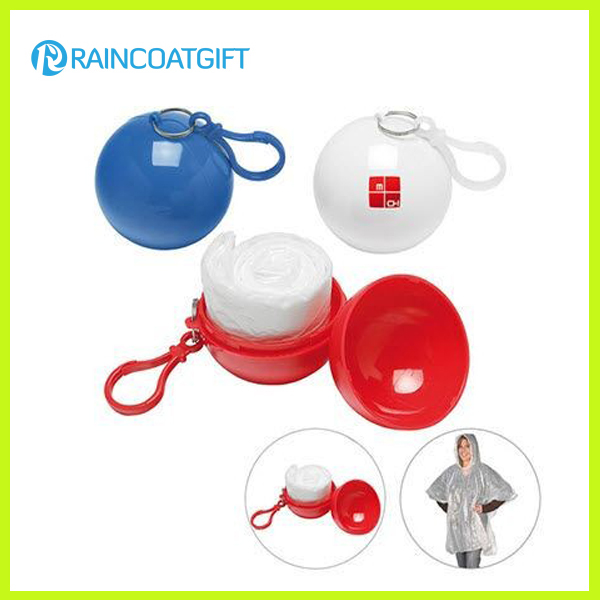 Promotional Gift Plastic Ball Raincoat Rvc-075