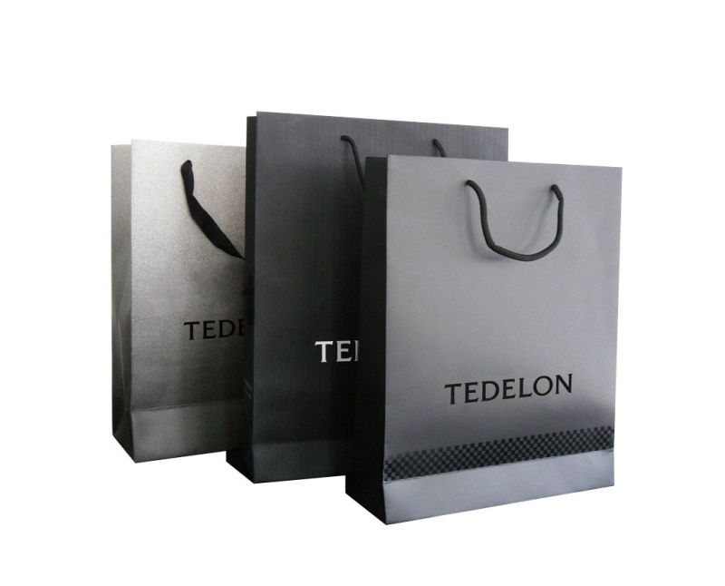 Custom Logo Printed Fashion Paper Shopping Bag