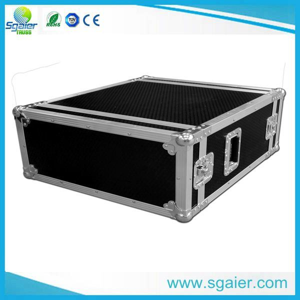 Aluminum Cosmetic Makeup Case with Dividers Barber Tool Case
