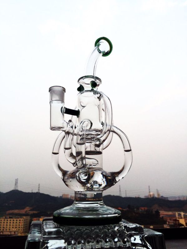 Wholesale 13inch 5mmthickness Recylce Glass Smoking Water Pipe