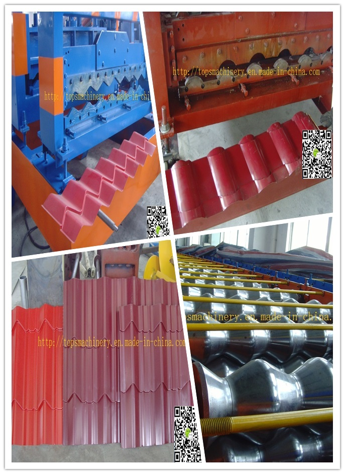 Hydraulic Automatic Color Steel Sheet Glazed Roof Tile Board Panel Roll Forming Machine