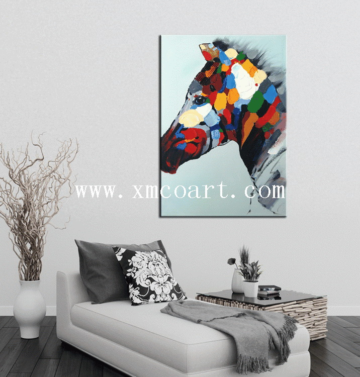 Hot Sale Modern Horse Oil Painting