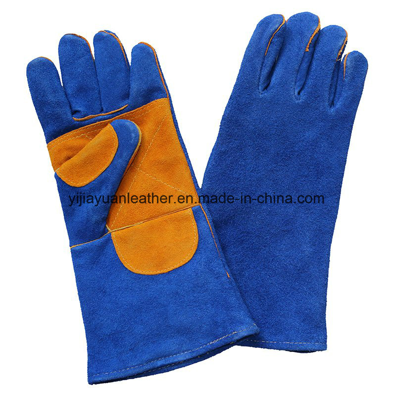 Double Palm Safety Leather Working Welders Gloves