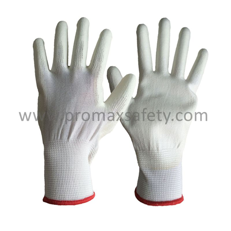 13G Polyester Liner PU Palm Coated Anti Static Work Glove