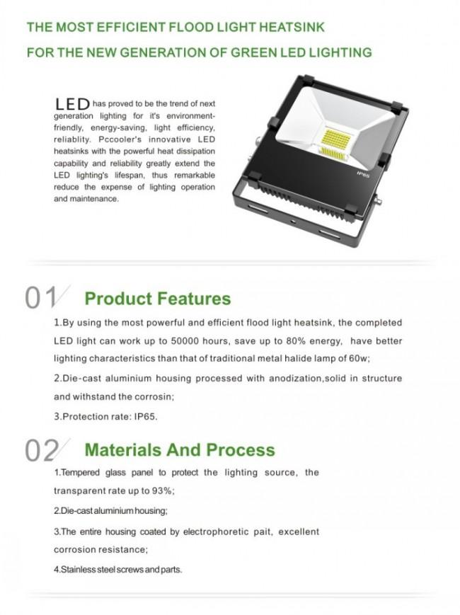 Ce RoHS 30W LED Floodlight COB LED Source Outdoor