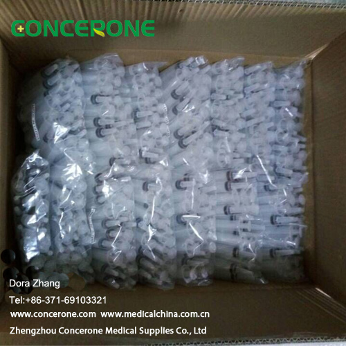 Medical Disposable Plastic Dental Impression Syringe with Ce ISO Certificate