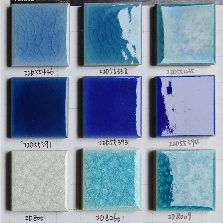 Simlpe Crack Glazed Blue Swimming Pool