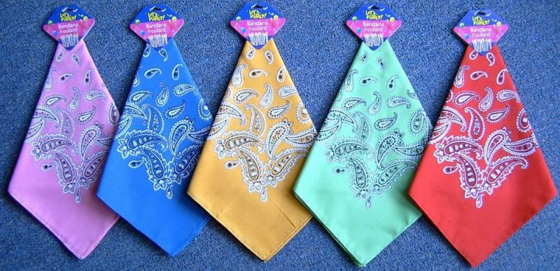 100% Cotton Square Seamless Multi Neck Tube Bandana