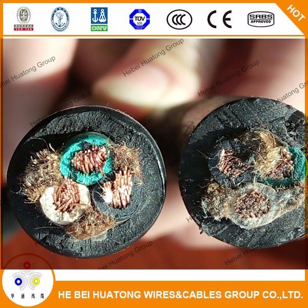 Flexible and Portable Cord Type Soow EPDM Insulation CPE Jacket Cable 16/3