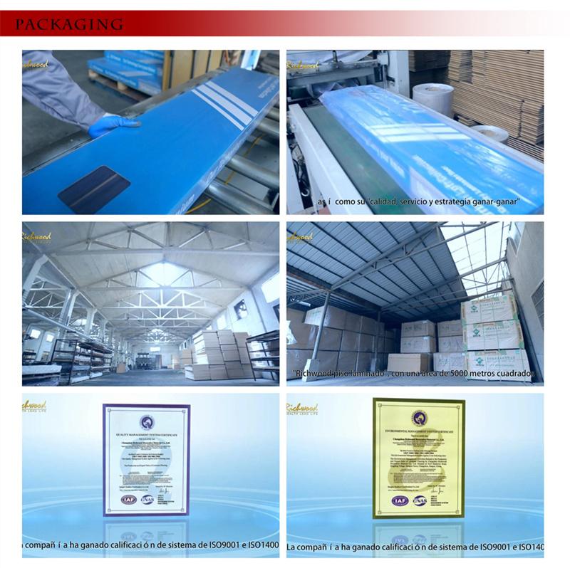 White Oak 12.3mm E1 HDF Handscraped Vinyl Laminated Wood Flooring