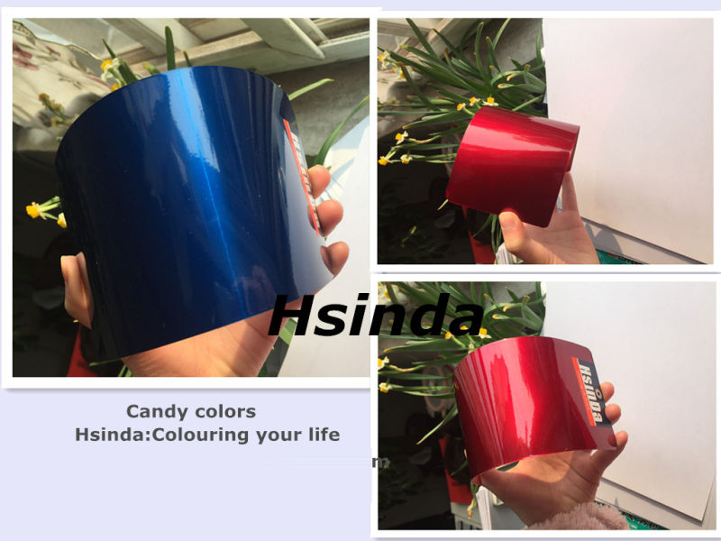Custom Automotive High Gloosy Candy Effect Powder Coating