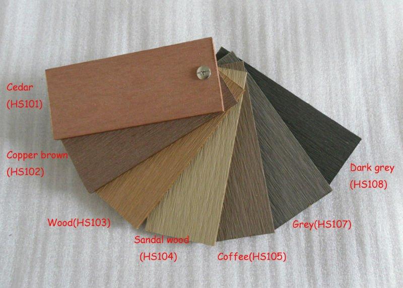 Anti-Slid Grooves Outdoor Composite Deck Floor for Balcony