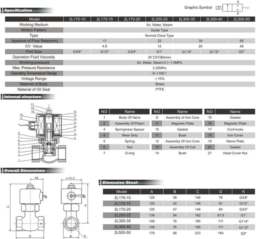 Steam Solenoid Valves (2L Series)