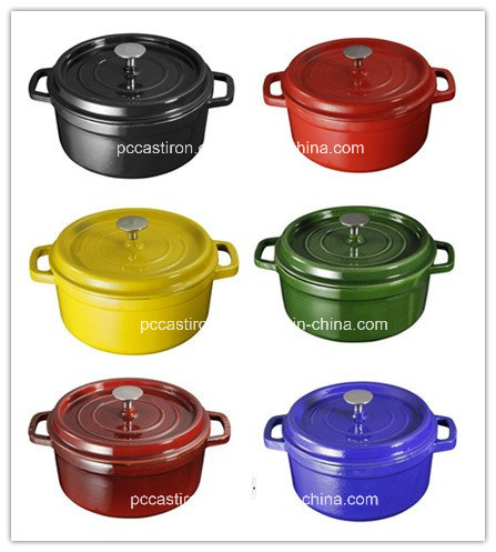 2.5L Enamel Cast Iron Dutch Oven Manufacturer Dia 20cm