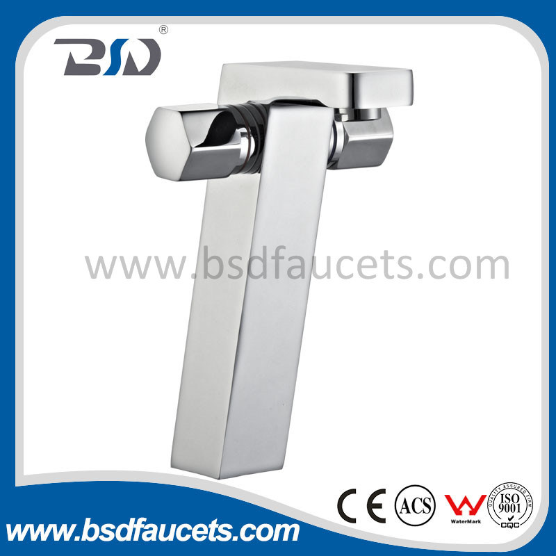 Extended Double Handle High Neck Kitchen Basin Faucet Mixer Faucet