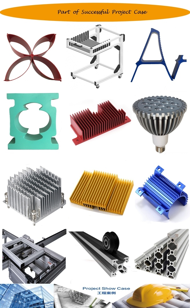 Rounded and Square Shape Aluminum/Aluminium Heatsink for LED