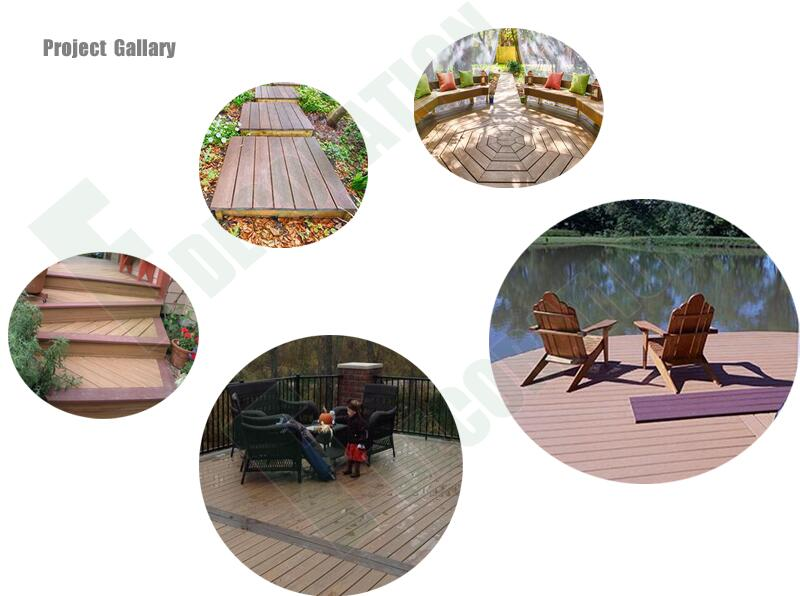 Outdoor Low Maintenance Promotional Co-Extrusion WPC Decking